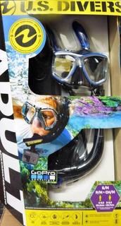 Visor Snorkel Aletas Y Bolsa Adulto U.s. Divers Go Pro