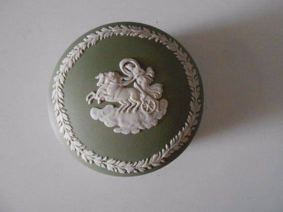 Porcelana Wedgwood Green Porta Joia 9 Diâmetro X 4 Cm Altura