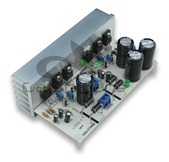 Placa Montada Amplificador 100w Stereo Com Fonte