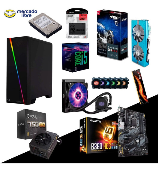 Pc Gamer-streamer Intel I5 8400 (12 Nucleos) Gpu Rx 580