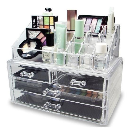 Organizador Acrílico Maquillaje Cajonera Baires Beauty Shop