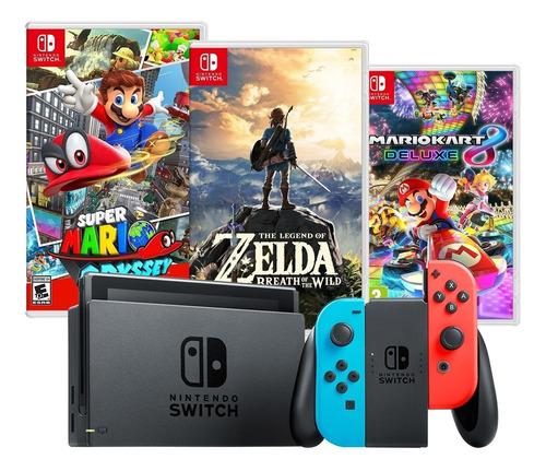 Nintendo Switch Con 3 Juegos Originales