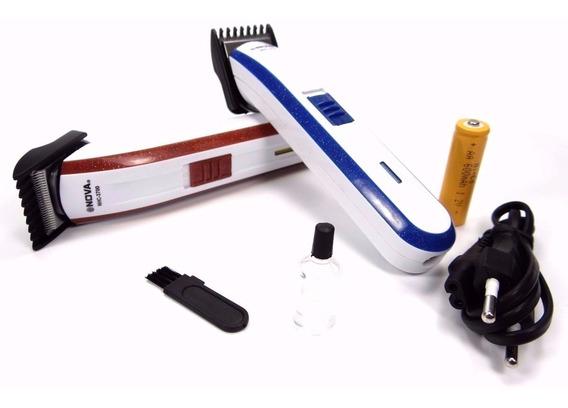 Máquina Nova Corta Cabelo Fazer Barba Pezinho Recarregável