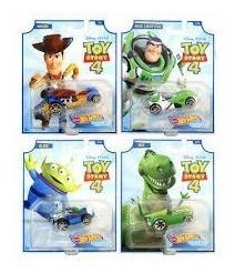 Hot Wheels Toy Story 4 Modelos Buzz Woody Rex Alien Mattel