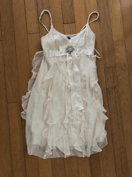 Hermoso Vestido Color Nude De Bcbg Maxzaria . Excelente