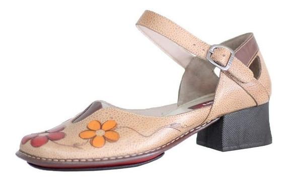 Sapato Salto Grosso Estilo Retrô Vintage J. Gean Ck0101