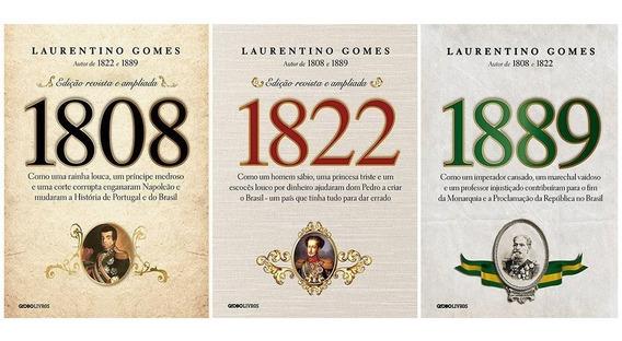 Kit 3 Livros 1808 + 1822 + 1889 - Laurentino Gomes
