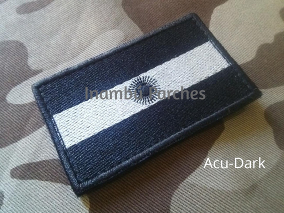 Parches Bandera Argentina Baja Visibilidad C/abrojo Bordados