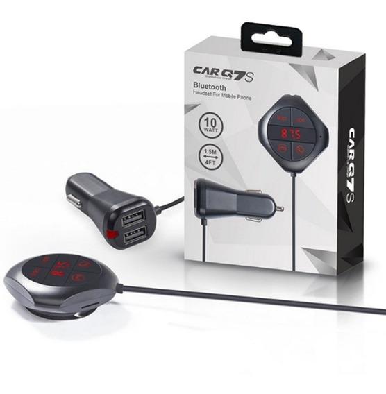 Transmissor Fm Automotivo Bluetooth Cartão Aux Pendrive Usb