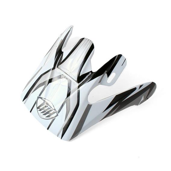 Pala Para Capacete Thh Tx-10 #3 - Branco E Prata