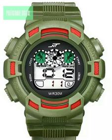 Relógio De Pulso Digital Nt Estilo Exército A Prova D