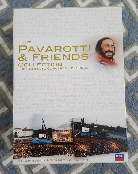 Box 4 Dvds - The Pavarotti & Friends Collection 1992-2000