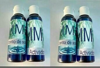 2 Kit Clorito De Sodio Grandes 125ml Con Activador