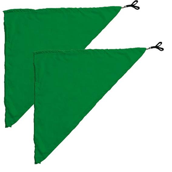 Swing Flag Triangular Verde Escuro - 70 Cm X 70 Cm