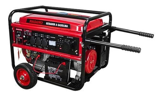 Gerador portátil Nagano NG8100E3 6400W trifasico com tecnologia AVR 110V/220V (Bivolt)