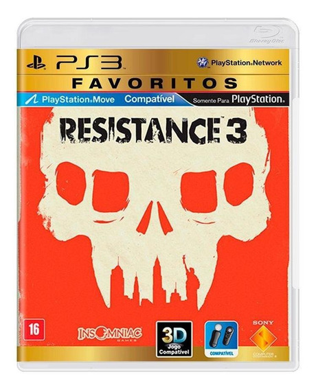 Resistance 3 Ps3 Mídia Física Novo Lacrado