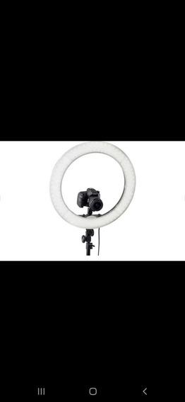 Iluminador Ring Light Rl18 (48cm, 80w) Bicolor + Tripé