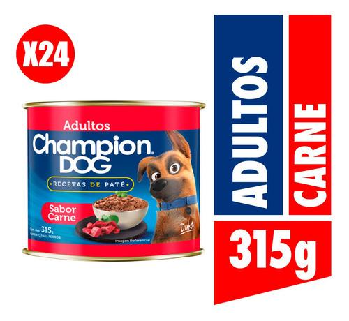 Champion Dog Pack 24 Und - Recetas De Paté Carne 315g