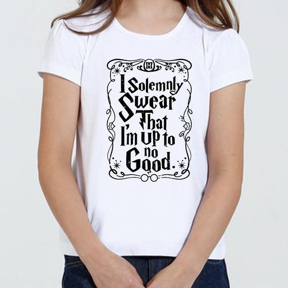 Camiseta Infantil Feminina Harry Potter Juro Solenimente