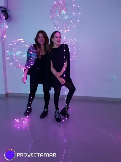 Burbuja Gigante 50cm Con Luz Rosa 5mt Personalizado,