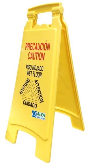Letrero Señal De Precaución Para Piso Mojado