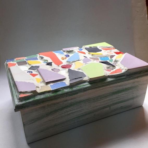 Caja De Té Decorada Con Venecitas - 6 Divisiones