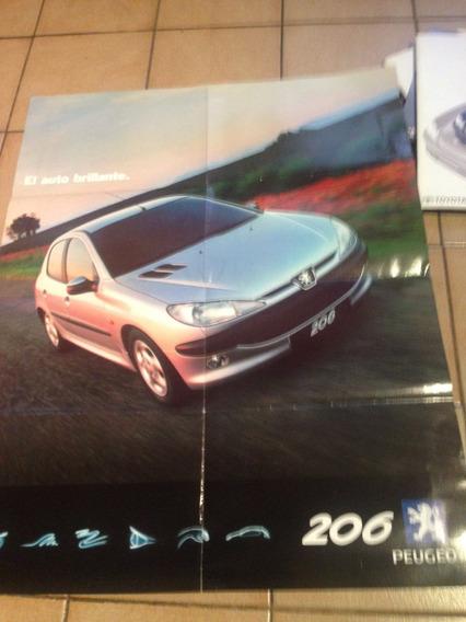 Póster Publicitario Peugeot 206