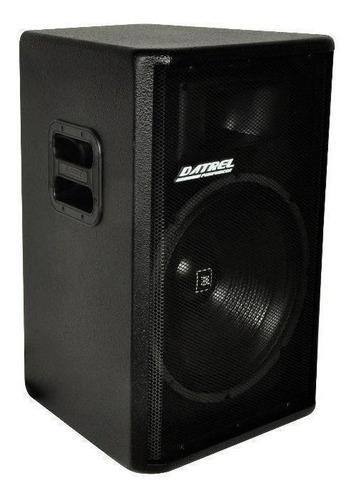 Caixa de som Datrel AT15-300 preta 110V/220V