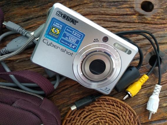 Câmera Sony Cyber-shot 7.2 Mega Pixels - Dsc S730