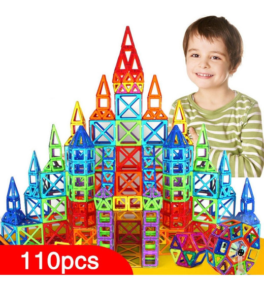 Mini Blocos De Montar Magnéticos 110pçs Lego Presente