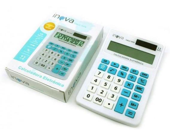 Calculadora Eletrônica 12 Dígitos Inova Calc7070