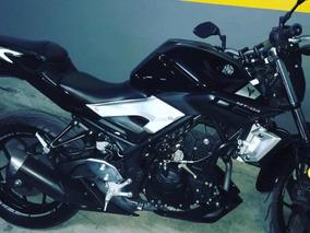 Yamaha Mt03 Impecable 2017 Con 6800km Negra Sin Detalles