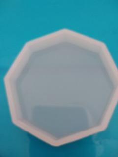 Molde Silicon Portavaso Placa Piedra Octagonal Resina