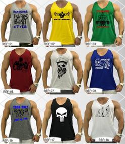 46653c2794 Kit 2 Regatas Masculina Academia Treinar Musculação Cavada
