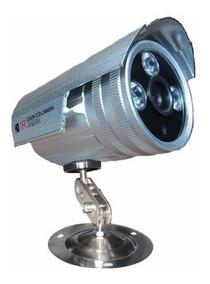 Câmera Segurança Cftv Infravermelho Ir Cut Analogica + Fonte