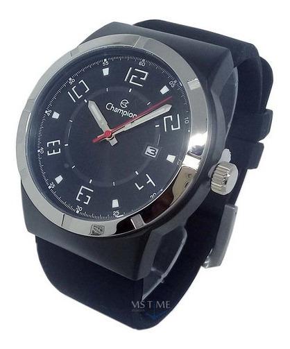 Relógio Champion Masculino Pulseira De Silicone Casual Nf