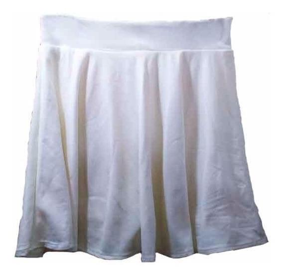 Saia Com Shorts Cintura Alta Lycra Grossa Rodada