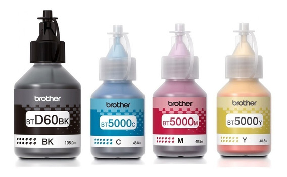 Pack De 4 Botella De Tinta Brother T310 T510w T710w T910dw