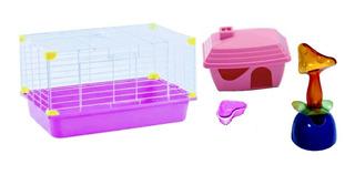 Jaula Sunny Hamster 45x30x25 Cm + Accesorios