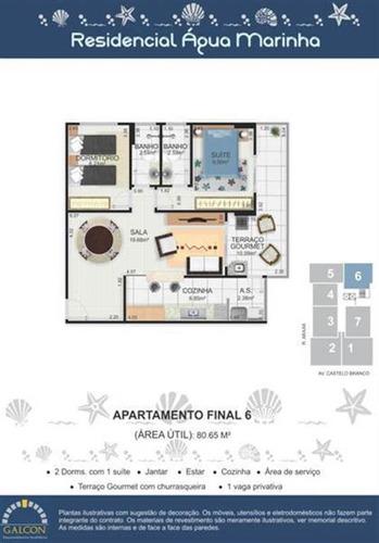 Imagem 1 de 2 de Apartamento - Venda - Jardim Real - Praia Grande - Dna569
