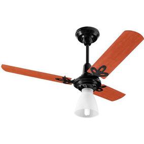 Ventilador Teto Arge Economic Ventus 3 Pás Mogno/preto 130w