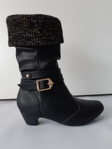 Bota Infantil Piccadilly For Girls Longa 059003 Preto 6199