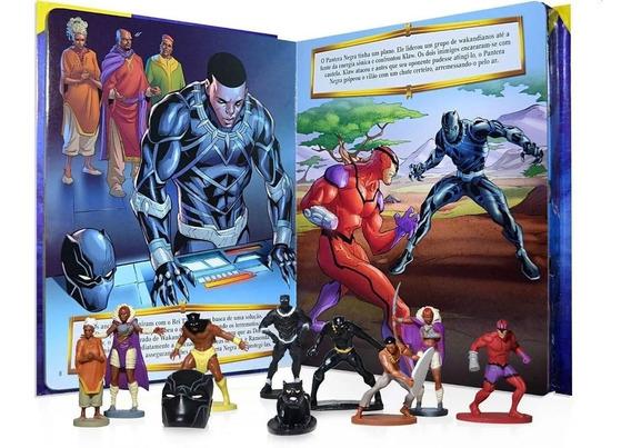 Livro Com 10 Miniaturas - Black Panther - Wakanda Pra Sempre