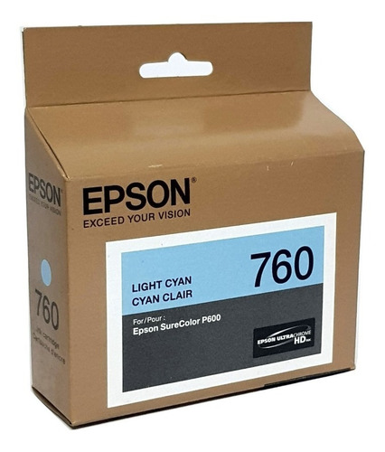 Imagem 1 de 2 de Cartucho 760 Light Ciano - Epson Surecolor P600