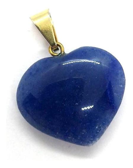 Pingente Coração De Quartzo Azul A Pedra Da Cura Emocional