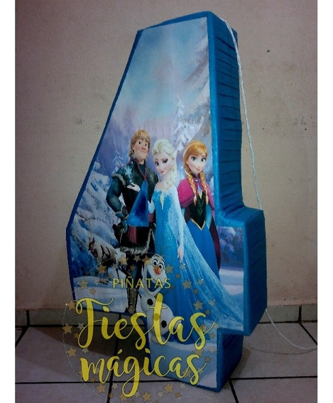 Accesorio Numero 4 Frozen Y Ana ,kid Decoracion No Stok
