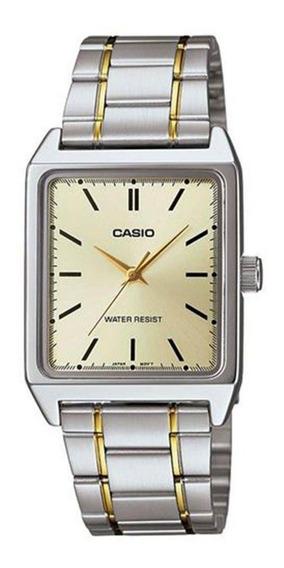 Relógio Casio Masculino Quadrado Mtp-v007sg-9eudf Original
