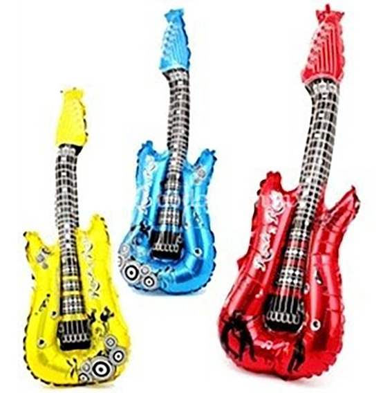 10 Globo Guitarra Inflable Fiesta Xv Años Batucada