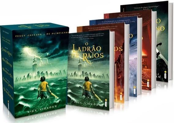 Box Percy Jackson E Os Olimpianos - 5 Livros - Ed. Original