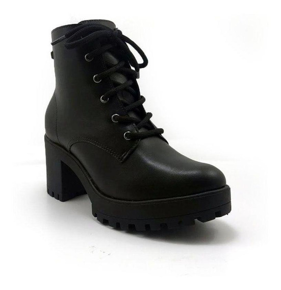 Bota Ramarim Ankle Boot Tratorada Napa Bio Plus Preto